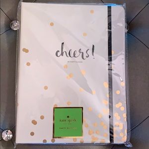 """Kate Spade """"Cheers"""" Gold Confetti party planner"""
